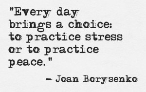 practice stress or peace