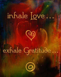 inhale love exhale gratitude