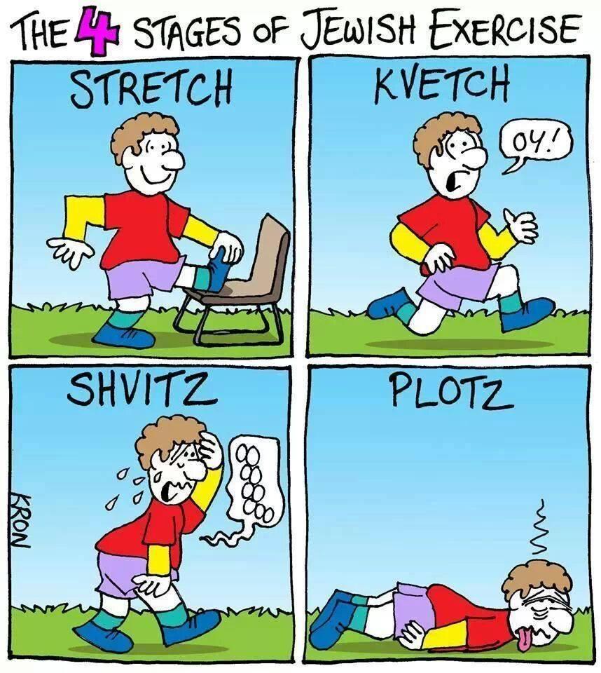 stretch and kvetch