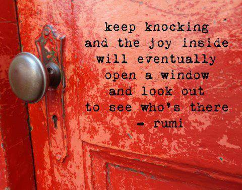 keep knocking - Rumi