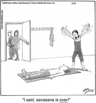 Savasana funny comic
