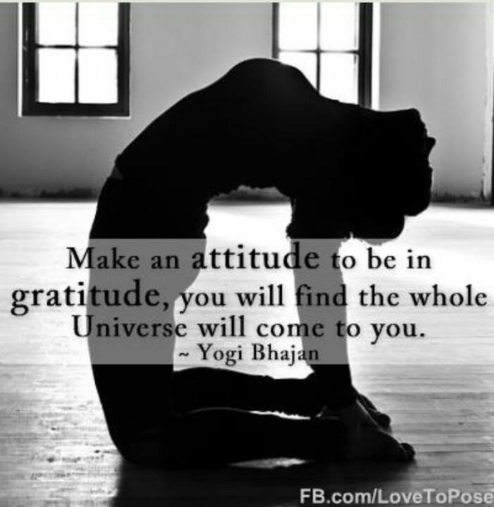 an attitude of gratitude can help