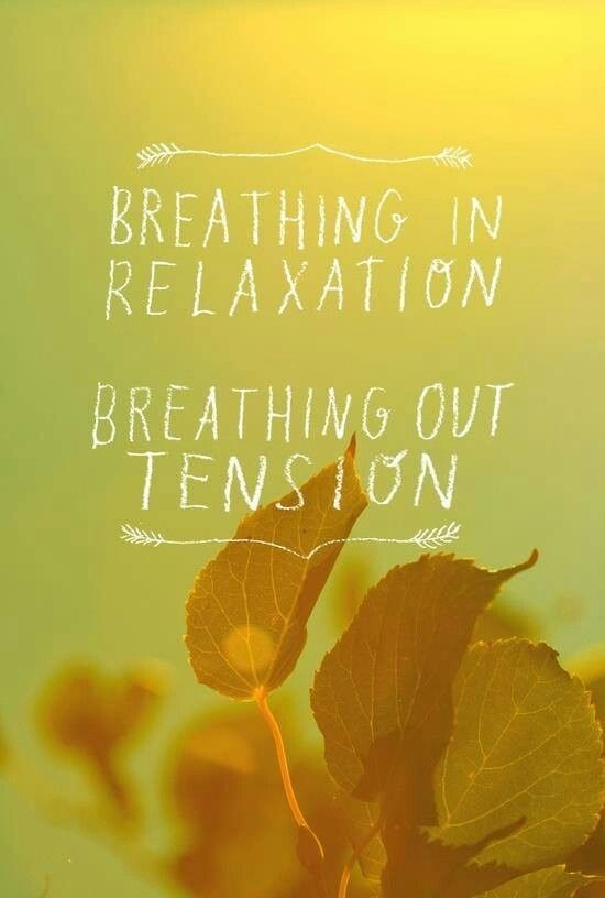 breathing in and out