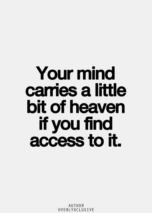 mind carries heaven