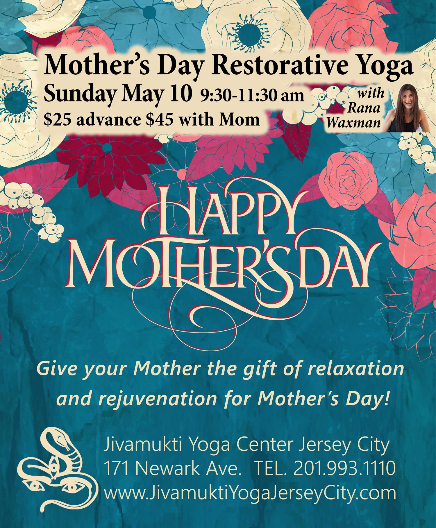 Mother's Day Restorative Yoga Workshop