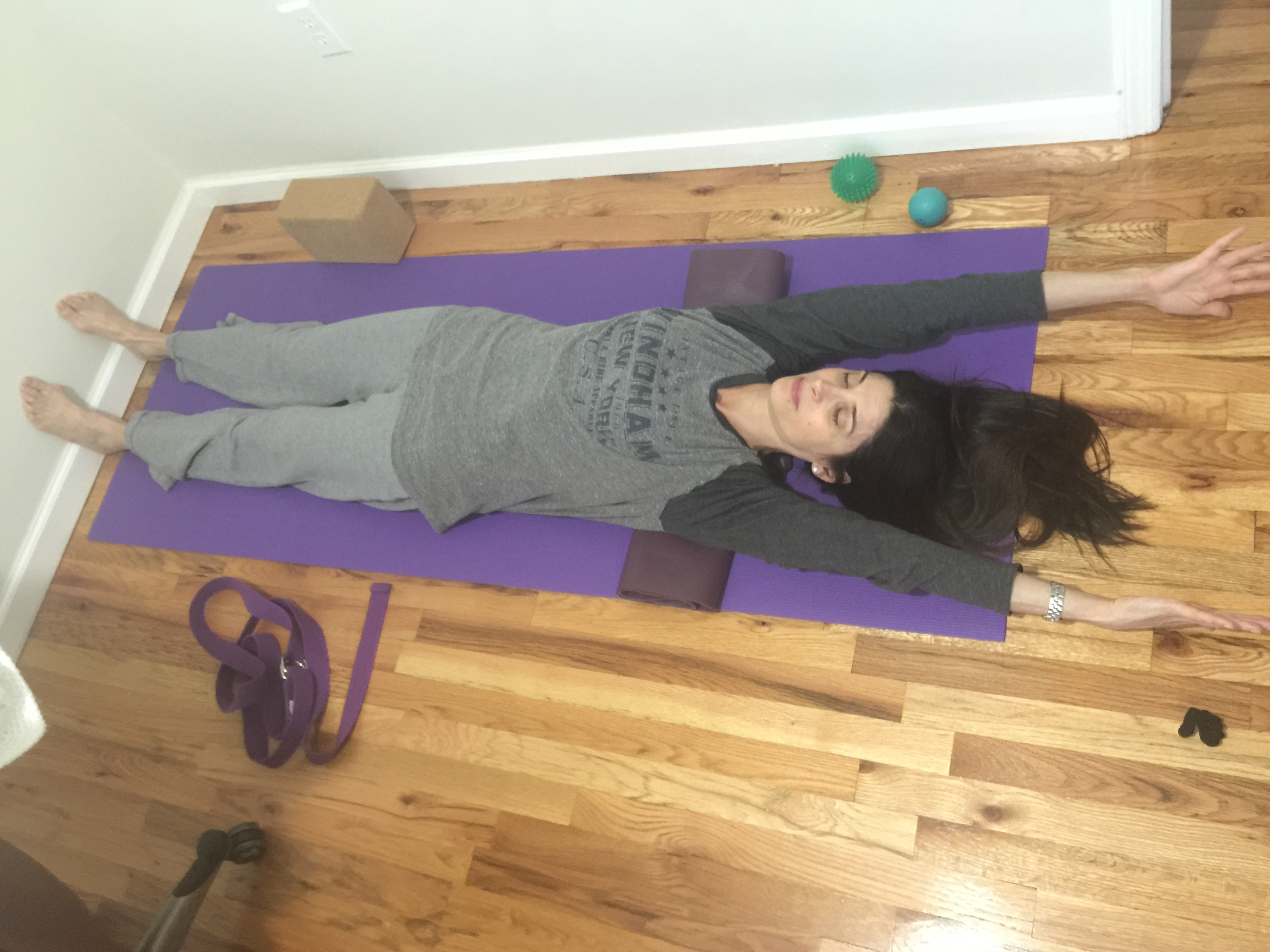 how to open the chest in tadasana